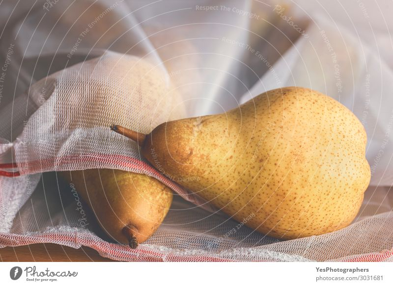 Pears in a reusable shopping bag. Eco-friendly shopping Healthy Eating Food Lifestyle Autumn Environment Fruit Fresh Shopping Plastic Diet Vegan diet Packaging