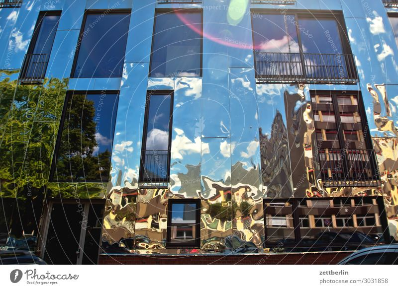 Sky Heaven House (Residential Structure) Clouds Architecture Berlin Germany Facade Office Modern High-rise Places Skyline Capital city Downtown Mirror