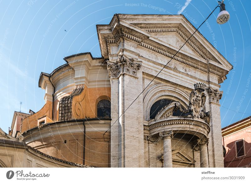 Chiesa 2 Church Religion and faith Italy Rome Baroque Bernini round house Portal Summer Cultural monument Christianity Catholicism Architecture