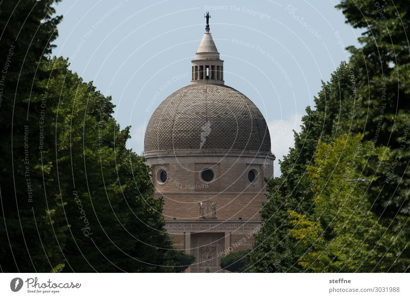 Chiesa 3 Church Religion and faith Italy Rome World exposition Modern architecture Domed roof Christianity Catholicism Avenue Tree Harmonious Basilica
