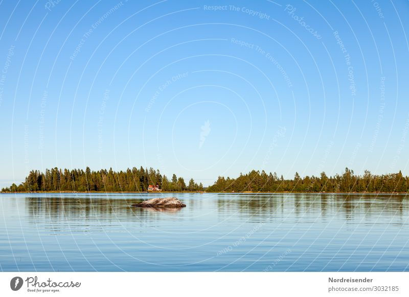Baltic Sea in Sweden Vacation & Travel Camping Summer Summer vacation Ocean Island Nature Landscape Water Cloudless sky Spring Autumn Beautiful weather Forest