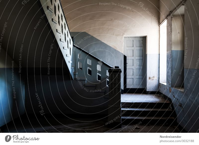 Mystic staircase House (Residential Structure) Interior design Room Town Factory Building Architecture Wall (barrier) Wall (building) Stairs Window Door