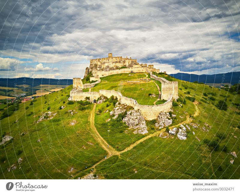 Aerial view of Spis (Spiš, Spišský) castle in summer Vacation & Travel Tourism Trip Adventure Far-off places Freedom Sightseeing Summer Summer vacation Mountain