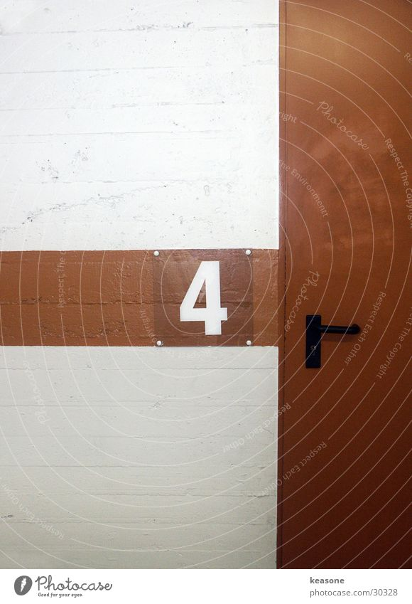 Door Concrete Digits and numbers Asphalt 4 Garage Parking garage Underground garage