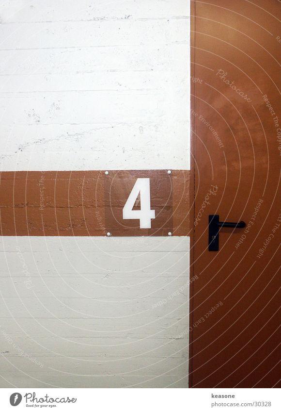 Door Concrete Digits and numbers Asphalt 4 Garage Parking garage Underground garage