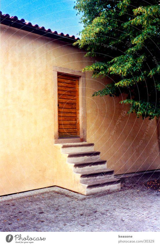 tha door Prague House (Residential Structure) Entrance Tree Wall (building) Plaster Moody Europe Castle Old http://www.keasone.de