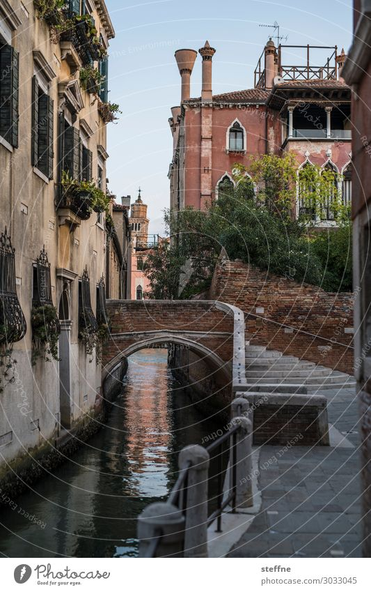 BRIDGE Wall (barrier) Wall (building) Facade Esthetic Exceptional Historic Venice Bridge Stairs Picturesque Idyll Calm Colour photo Exterior shot Deserted