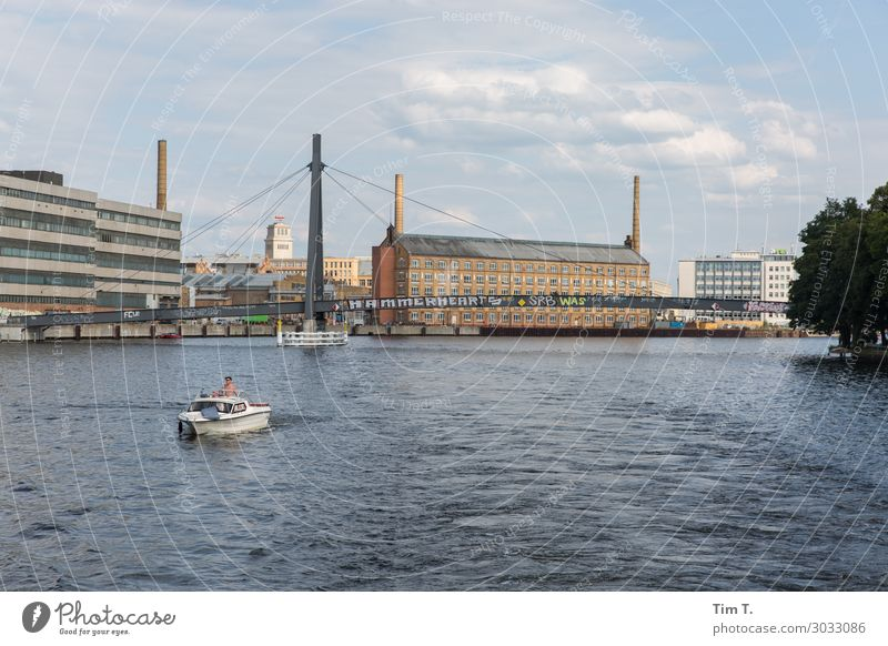 Berlin Köpenick Town Capital city Downtown Old town Skyline Industrial plant Factory Manmade structures Building Architecture Chimney Tourism Spree köpenick