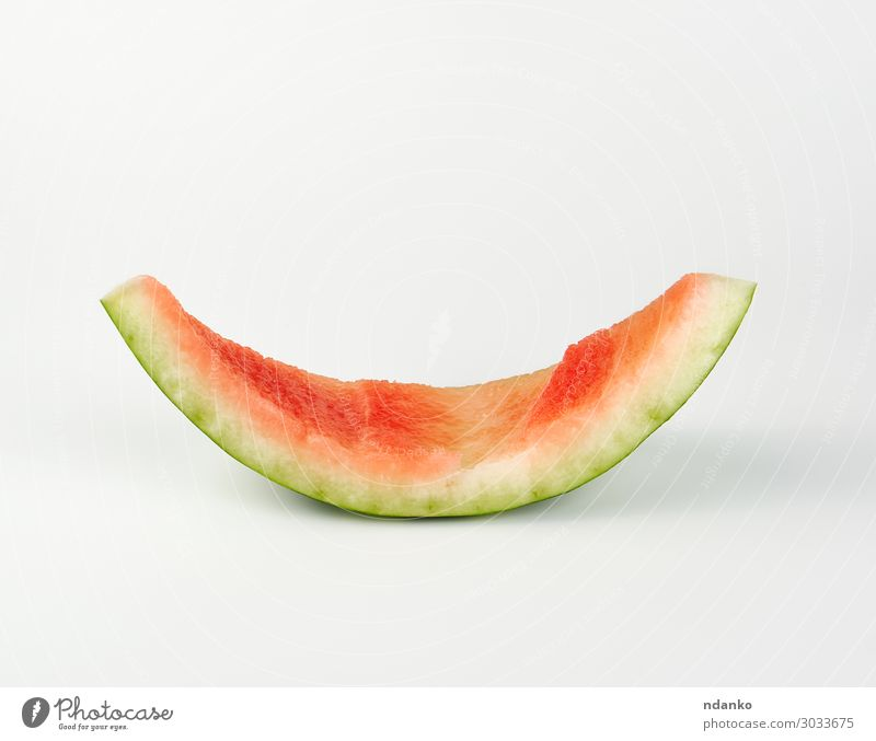 stub of red ripe round watermelon Fruit Skin Summer Plant Eating Fresh Natural Juicy Green Red White Water melon Gourmet Vitamin eat bitten empty Melon Striped