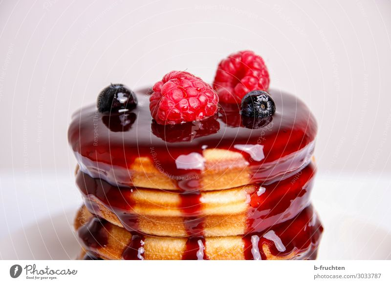 Pancakes with fruits Food Fruit Cake Dessert Candy Jam Nutrition Breakfast Vegetarian diet Select To enjoy Fluid Happiness Fresh Healthy pancakes Omelette