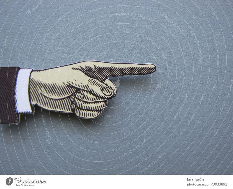 White Hand Black Gray Communicate Sign Curiosity Forefinger Trend-setting