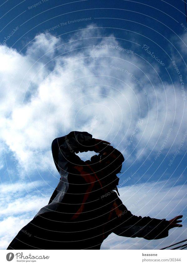 Man Sky Blue Black Horizon To fall