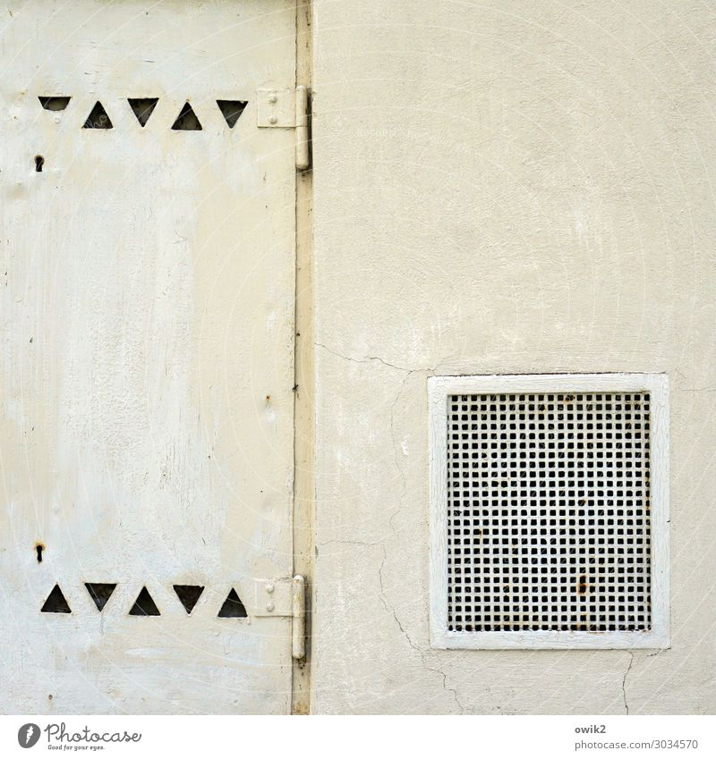 Permeable Ventilation Grating Metal grid Triangle Old Sharp-edged Simple Colour photo Exterior shot Abstract Pattern Structures and shapes Deserted