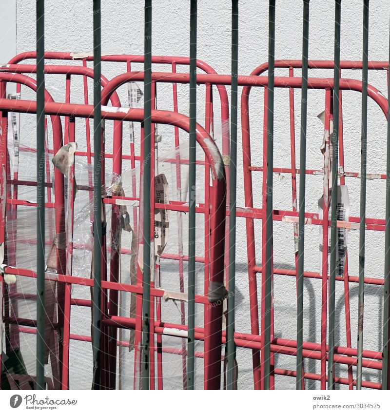 latticed Wall (barrier) Wall (building) Handrail Grating Metal Crazy Arrangement Unclear Colour photo Exterior shot Close-up Detail Pattern
