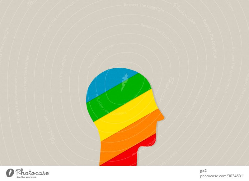 Coloured inside Human being Head 1 Emotions Happiness Solidarity Tolerant Life Curiosity Surprise Design Uniqueness Experience Freedom Identity Innovative