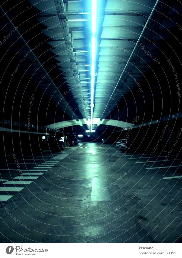 Street Car Lighting Tunnel Austria Neon light Parking garage Curb Salzburg