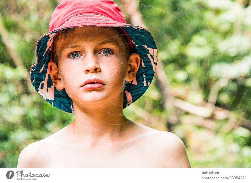 With umbrella, charm and melon. Okay, sun hat... Vacation & Travel Tourism Trip Adventure Far-off places Freedom Child Boy (child) Family & Relations Infancy