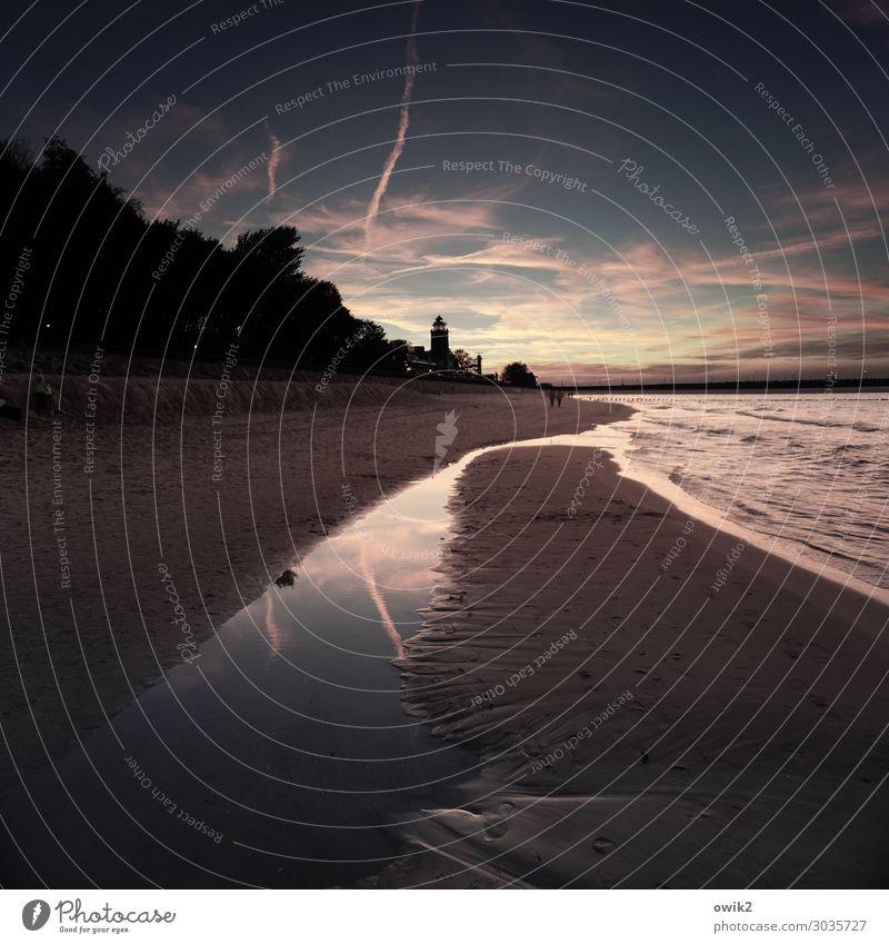 Sky Nature Water Landscape Clouds Calm Far-off places Beach Dark Autumn Environment Coast Sand Horizon Illuminate Waves