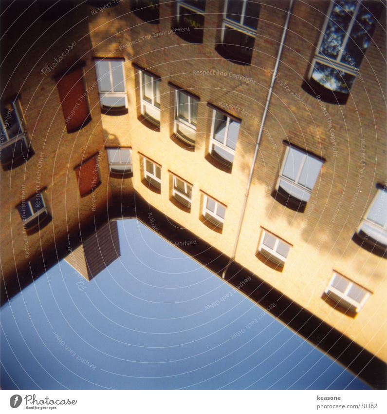 Sun House (Residential Structure) Window Architecture Chimney Interior courtyard Braunschweig Well of light