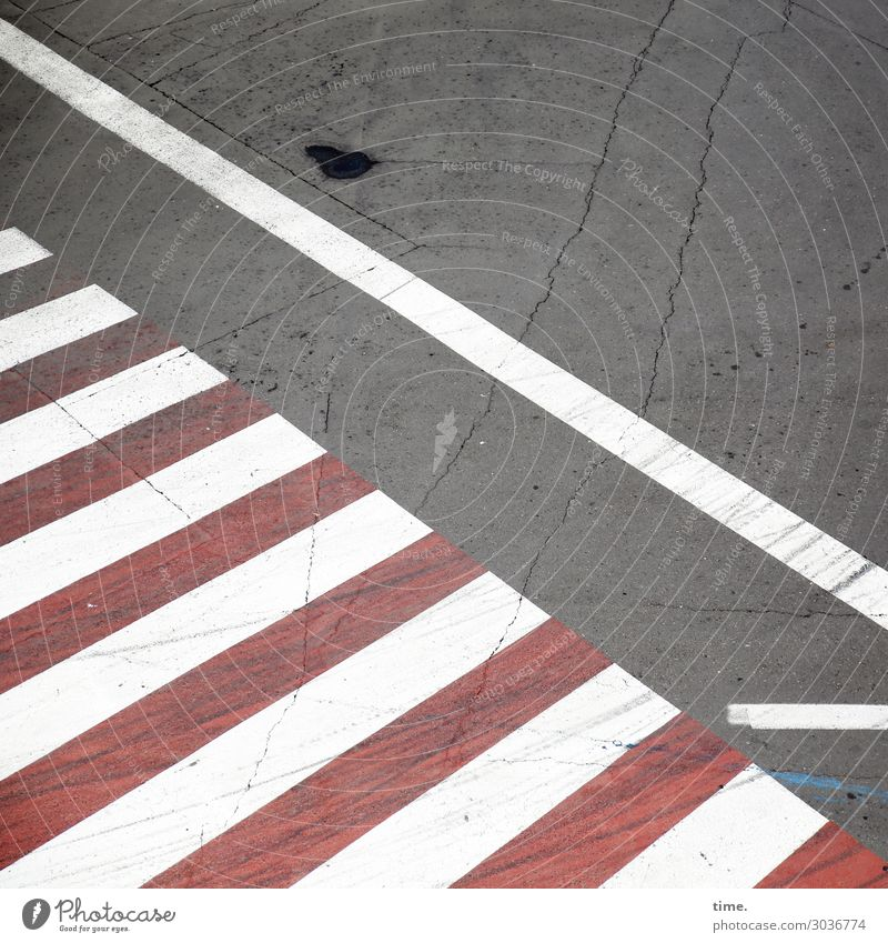 red zebra with white stripes | on the road again Transport Traffic infrastructure Passenger traffic Street Lanes & trails Road sign Pedestrian crossing