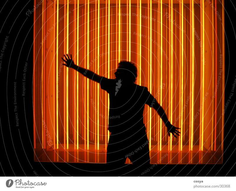 Human being Man Neon light