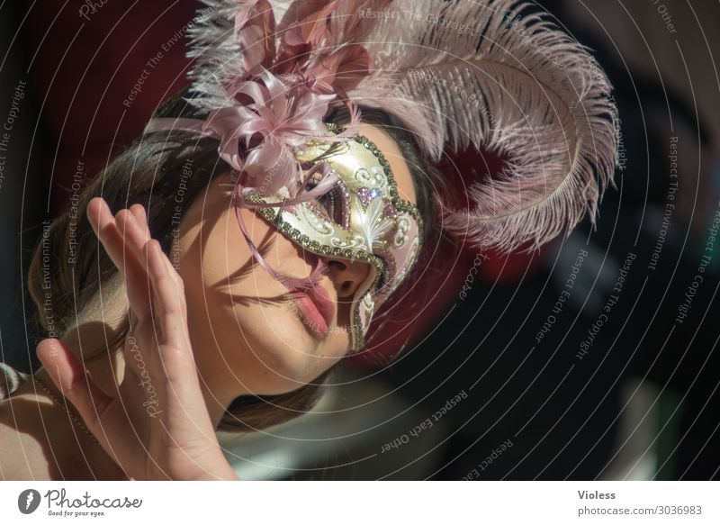 Arwen Venice Carnival Mask Portrait photograph Feminine Woman Adults Cancelation Passion Humble Sadness Concern Fatigue Emotions Moody Irritation Meditative