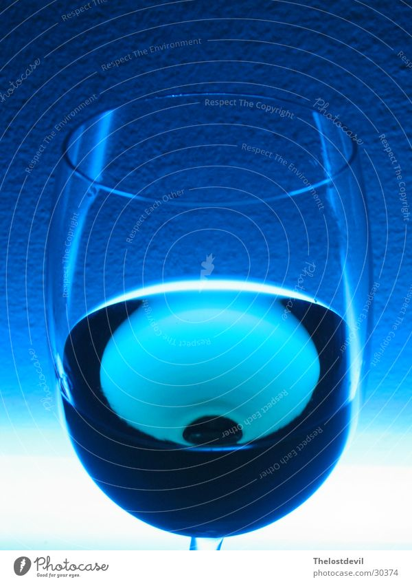 glass of wine Style Drinking Alcoholic drinks Glass Blue atmosphere Multicoloured Wine