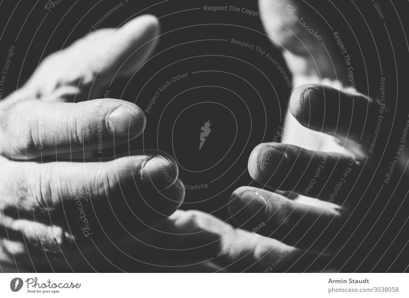 Begging hands Style Design Life Night life Human being Masculine Man Adults Hand Fingers 1 Dark Emotions Power Willpower Passion Trust Compassion Goodness Truth