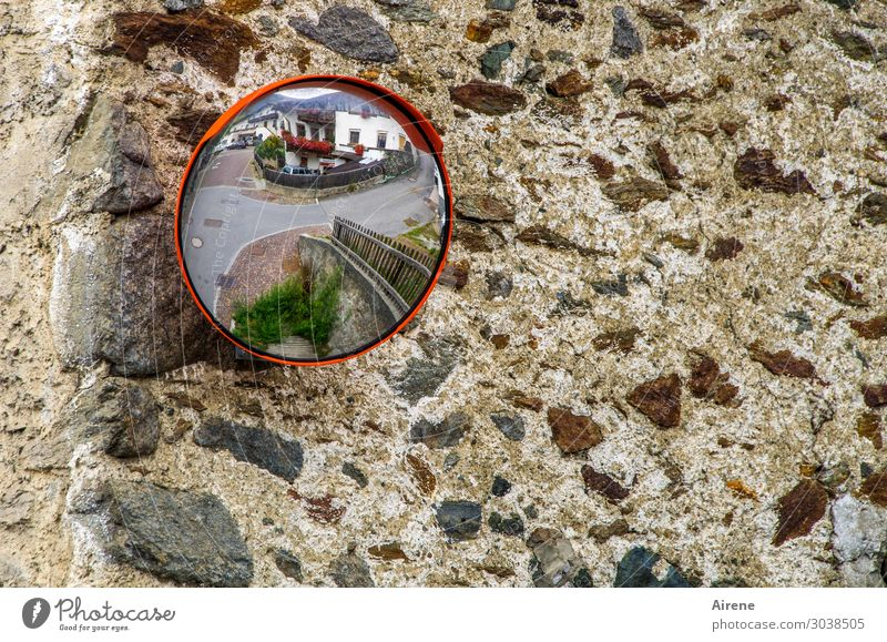 On the other hand. Village House (Residential Structure) Wall (barrier) Wall (building) Facade Crossroads Slice Round Multicoloured Gray Idyll Distorted