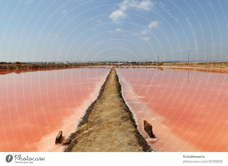Salinas Vacation & Travel Landscape Red Lake Orange Pink Esthetic Industry Manmade structures Portugal Salt Algarve
