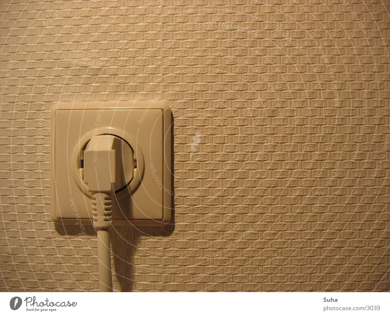 Connected Electricity Connector Socket Wall (building) Wallpaper Pattern Electrical equipment Technology Blow Connection Power plug
