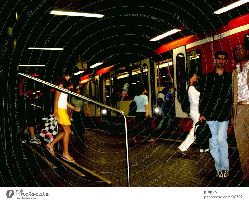 Human being Dark Movement Transport Underground Mobility In transit Get in