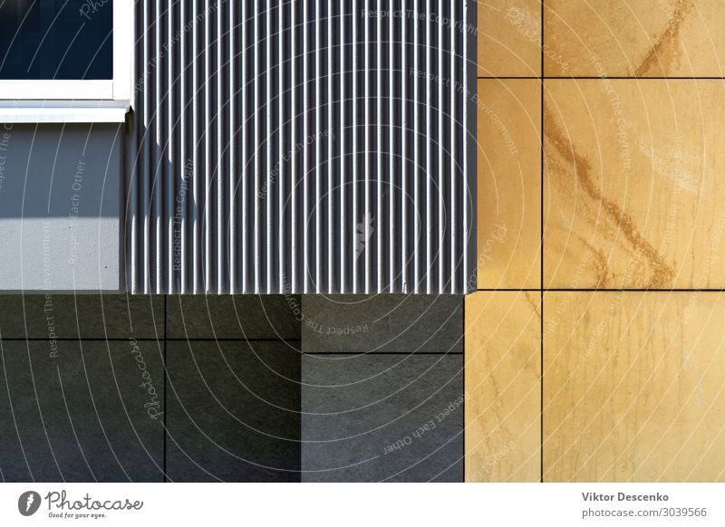 Fragment of the facade of a modern house Style Design Summer Flat (apartment) House (Residential Structure) Work and employment Technology Landscape Building