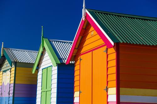 brighton beach house , australia Vacation & Travel Blue Colour Beautiful Green White Landscape House (Residential Structure) Joy Lifestyle Graffiti Funny Coast