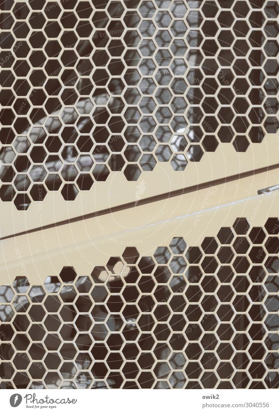 project Metal grid Radiator  grille Honeycomb pattern Complex Colour photo Subdued colour Exterior shot Detail Abstract Pattern Structures and shapes Deserted