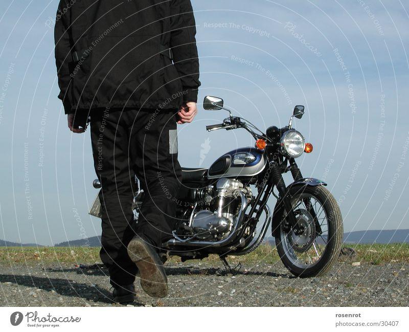 motorbike Motorcycle Motorcyclist Driving Transport Kawa kawasaki W650