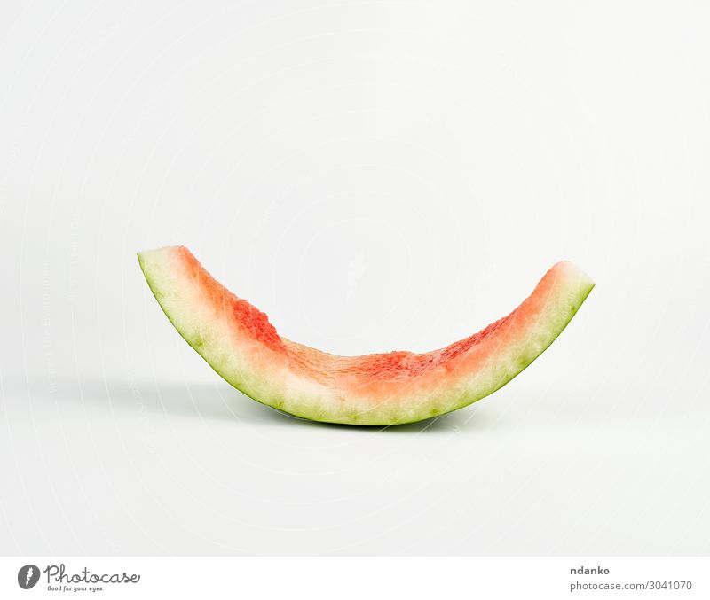 stub of red ripe round watermelon Fruit Nutrition Vegetarian diet Skin Summer Plant Fresh Natural Juicy Green Red White Colour part bite Cut eat empty food