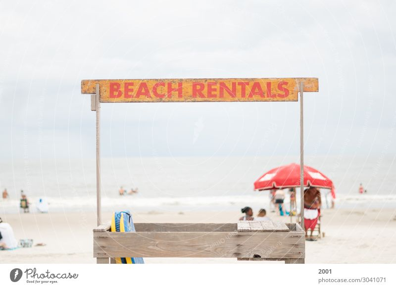 Beach Rentals Swimming & Bathing Tourism Adventure Summer Summer vacation Ocean Island Surfing Beautiful weather Sign Characters Signs and labeling