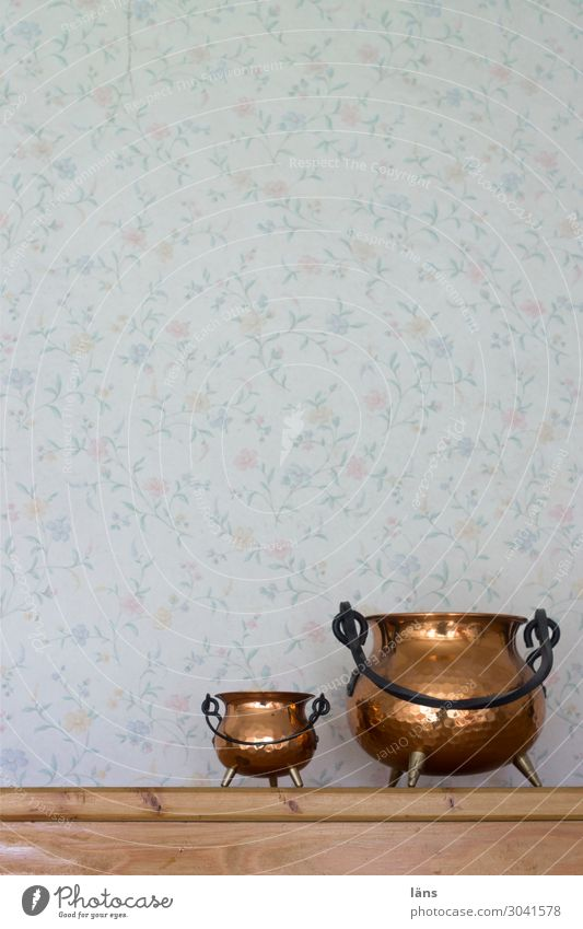 Interior design Wall (building) Living or residing Flat (apartment) Decoration Retro Simple Bowl Wallpaper Containers and vessels Retro trash