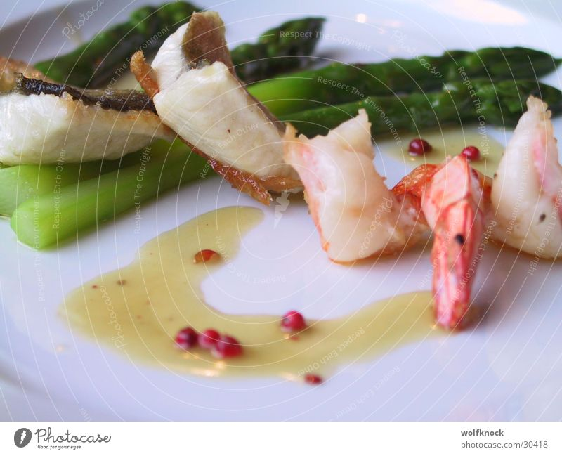 Nutrition Asparagus Seafood Shrimps