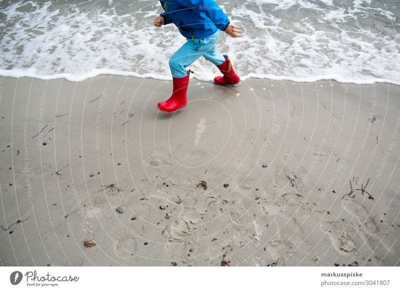 beach games baltic sea rubber boots child Playing Vacation & Travel Tourism Trip Adventure Far-off places Freedom Expedition Camping Beach Ocean Waves