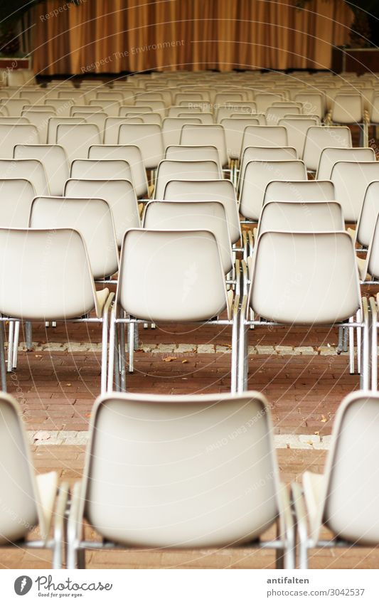 Empty ranks Lifestyle Tourism Chair Drape Theater square Row of chairs Row of seats Entertainment Event Going out Theatre Stage Culture Outdoor festival Music