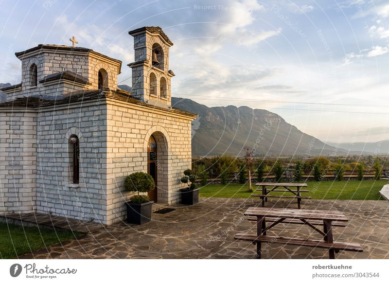 Small Greek Chapel in the Epirus Mountains Harmonious Relaxation Vacation & Travel Tourism Hiking Beautiful weather Hill Rock konitsa Greece Europe Deserted