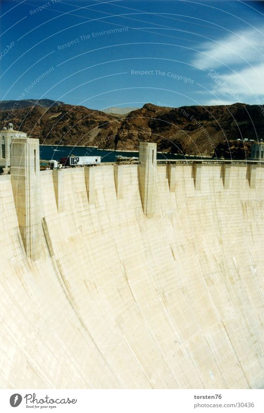 Water Clouds Mountain Americas Manmade structures Retaining wall