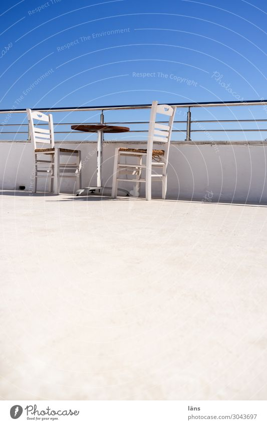 airy l roof terrace Vacation & Travel Tourism Living or residing House (Residential Structure) Furniture Chair Table Sky Cloudless sky Wall (barrier)