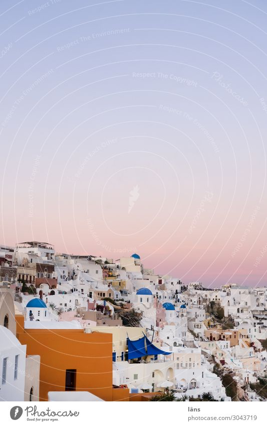 Santorini Vacation & Travel Tourism Trip City trip Living or residing House (Residential Structure) Dream house Sky Cloudless sky Beautiful weather Island Oia