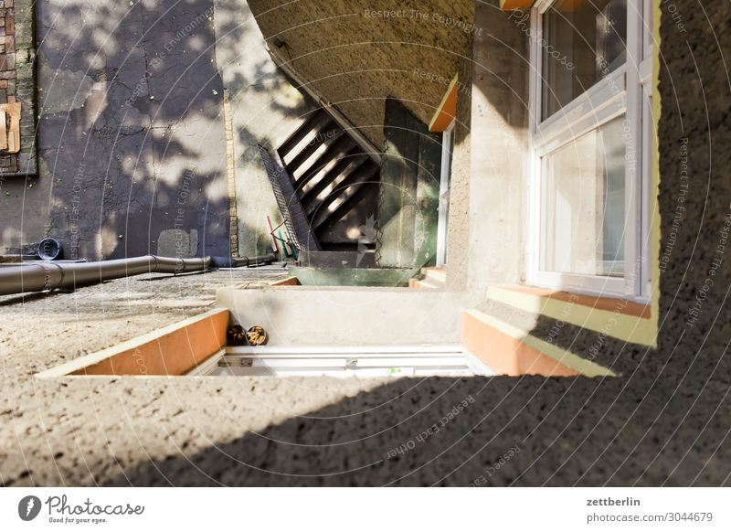 Town House (Residential Structure) Window Wall (building) Copy Space Wall (barrier) Facade Living or residing Stairs Apartment Building Downtown Alley Backyard