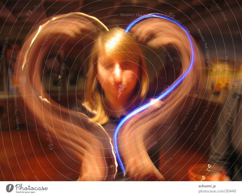 Blue Light Heart Long exposure heart