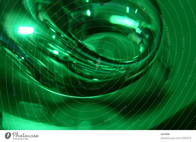 Green World Abstract Obscure Detail Glass Sphere Close-up Digital photography