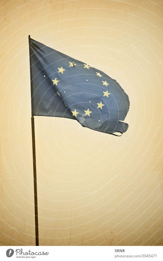 EU Flag Retro Europe European Union Flagstaff flown flag flying flag national flag no person Object photography star Symbols and metaphors waving bullet hole